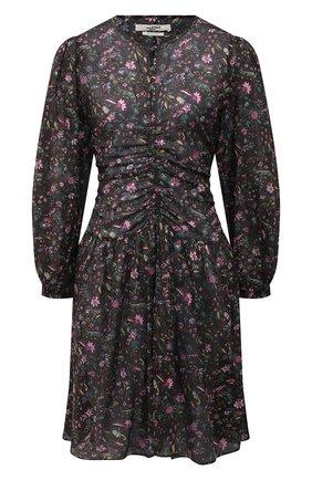 Женское хлопковое платье ISABEL MARANT ETOILE черного цвета, арт. R02027-21A027E/MARILI   Фото 1 (Длина Ж (юбки, платья, шорты): До колена; Рукава: Длинные; Материал внешний: Хлопок; Женское Кросс-КТ: Платье-одежда; Случай: Повседневный; Стили: Романтичный)