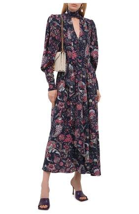 Женское шелковое платье ISABEL MARANT темно-синего цвета, арт. R02038-21A021I/BISMA | Фото 2