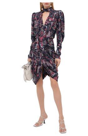 Женское шелковое платье ISABEL MARANT темно-синего цвета, арт. R02039-21A021I/BAT0A | Фото 2