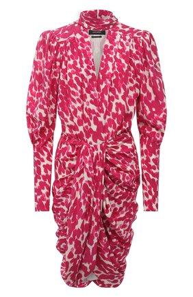 Женское шелковое платье ISABEL MARANT фуксия цвета, арт. R02039-21A021I/BAT0A | Фото 1