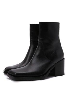 Женские кожаные ботильоны cut BALENCIAGA черного цвета, арт. 657004/WBBW1 | Фото 1 (Материал внутренний: Натуральная кожа; Каблук тип: Устойчивый; Подошва: Плоская; Каблук высота: Высокий)