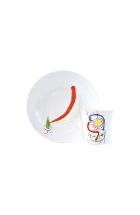 Набор joan miro из суповой пиалы и стакана BERNARDAUD разноцветного цвета, арт. 1890/23363 | Фото 1 (Интерьер Кросс-КТ: посуда детская)