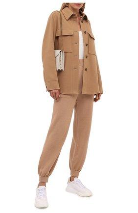 Женский шерстяной жакет BOSS бежевого цвета, арт. 50458629 | Фото 2