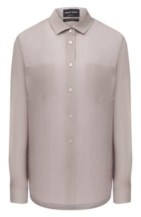 Женская рубашка GIORGIO ARMANI бежевого цвета, арт. 1WHCC01L/T00NW   Фото 1