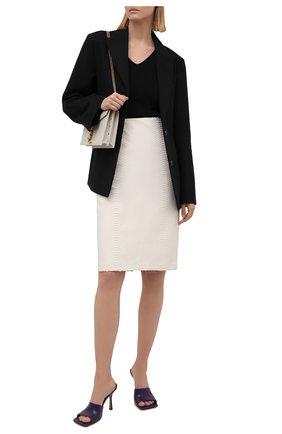 Женская юбка из кожи питона RALPH LAUREN кремвого цвета, арт. 290849866/PBIV | Фото 2 (Длина Ж (юбки, платья, шорты): До колена; Материал подклада: Купро; Женское Кросс-КТ: Юбка-одежда; Стили: Кэжуэл; Материал внешний: Экзотическая кожа)