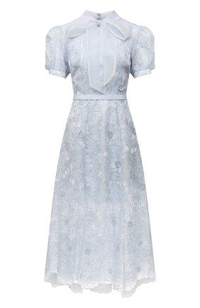 Женское платье SELF-PORTRAIT голубого цвета, арт. PF21-089 | Фото 1