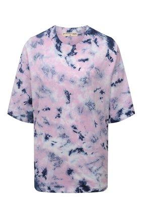 Женская хлопковая футболка ELECTRIC&ROSE разноцветного цвета, арт. LFTP24-EPIC | Фото 1 (Рукава: 3/4; Длина (для топов): Стандартные; Материал внешний: Хлопок; Стили: Спорт-шик; Женское Кросс-КТ: Футболка-одежда; Принт: С принтом)