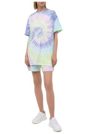 Женская хлопковая футболка ELECTRIC&ROSE разноцветного цвета, арт. LFJP05-AURA | Фото 2