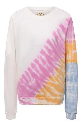 Женский хлопковый свитшот ELECTRIC&ROSE разноцветного цвета, арт. LFCV59-ECH0 | Фото 1 (Рукава: Длинные; Материал внешний: Хлопок; Длина (для топов): Стандартные; Женское Кросс-КТ: Свитшот-одежда, Свитшот-спорт; Стили: Спорт-шик)
