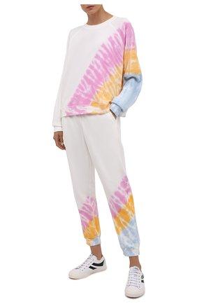 Женский хлопковый свитшот ELECTRIC&ROSE разноцветного цвета, арт. LFCV59-ECH0 | Фото 2 (Рукава: Длинные; Материал внешний: Хлопок; Длина (для топов): Стандартные; Женское Кросс-КТ: Свитшот-одежда, Свитшот-спорт; Стили: Спорт-шик)