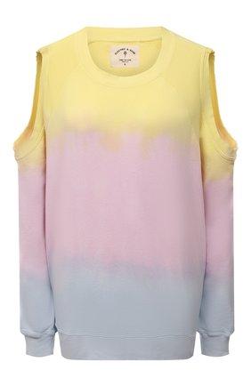 Женский хлопковый свитшот ELECTRIC&ROSE разноцветного цвета, арт. LFCV50-SUNSET | Фото 1 (Материал внешний: Хлопок; Длина (для топов): Стандартные; Рукава: Длинные; Женское Кросс-КТ: Свитшот-одежда; Стили: Спорт-шик)