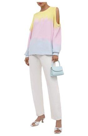 Женский хлопковый свитшот ELECTRIC&ROSE разноцветного цвета, арт. LFCV50-SUNSET | Фото 2 (Материал внешний: Хлопок; Длина (для топов): Стандартные; Рукава: Длинные; Женское Кросс-КТ: Свитшот-одежда; Стили: Спорт-шик)