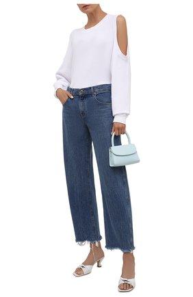 Женский хлопковый свитшот ELECTRIC&ROSE белого цвета, арт. LFCV50 | Фото 2 (Рукава: Длинные; Материал внешний: Хлопок; Длина (для топов): Стандартные; Женское Кросс-КТ: Свитшот-одежда; Стили: Спорт-шик)