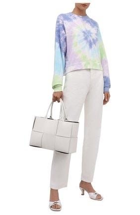 Женский хлопковый свитшот ELECTRIC&ROSE разноцветного цвета, арт. LFCV08-AURA | Фото 2 (Материал внешний: Хлопок; Длина (для топов): Стандартные; Рукава: Длинные; Женское Кросс-КТ: Свитшот-одежда; Стили: Спорт-шик)