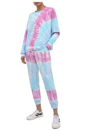 Женские хлопковые джоггеры ELECTRIC&ROSE разноцветного цвета, арт. LFBT28-PRISM | Фото 2 (Материал внешний: Хлопок; Длина (брюки, джинсы): Стандартные; Женское Кросс-КТ: Джоггеры - брюки, Брюки-спорт; Стили: Спорт-шик; Силуэт Ж (брюки и джинсы): Джоггеры)