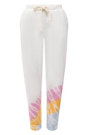 Женские хлопковые джоггеры ELECTRIC&ROSE разноцветного цвета, арт. LFBT28-ECH0 | Фото 1 (Длина (брюки, джинсы): Стандартные; Материал внешний: Хлопок; Женское Кросс-КТ: Джоггеры - брюки, Брюки-спорт; Стили: Спорт-шик; Силуэт Ж (брюки и джинсы): Джоггеры)