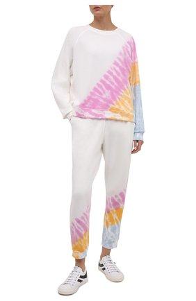 Женские хлопковые джоггеры ELECTRIC&ROSE разноцветного цвета, арт. LFBT28-ECH0 | Фото 2 (Длина (брюки, джинсы): Стандартные; Материал внешний: Хлопок; Женское Кросс-КТ: Джоггеры - брюки, Брюки-спорт; Стили: Спорт-шик; Силуэт Ж (брюки и джинсы): Джоггеры)