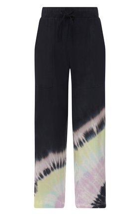 Женские брюки из вискозы ELECTRIC&ROSE разноцветного цвета, арт. LFBT24-BEAM | Фото 1 (Женское Кросс-КТ: Брюки-одежда, Брюки-спорт; Стили: Спорт-шик; Силуэт Ж (брюки и джинсы): Широкие; Длина (брюки, джинсы): Укороченные; Материал внешний: Вискоза)