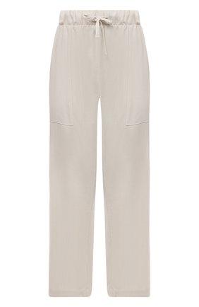 Женские брюки из вискозы ELECTRIC&ROSE бежевого цвета, арт. LFBT24 | Фото 1 (Женское Кросс-КТ: Брюки-одежда; Стили: Спорт-шик; Силуэт Ж (брюки и джинсы): Широкие; Длина (брюки, джинсы): Укороченные; Материал внешний: Вискоза)
