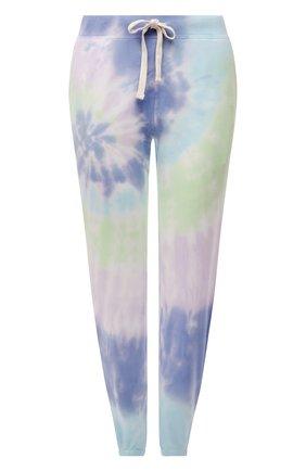 Женские хлопковые джоггеры ELECTRIC&ROSE разноцветного цвета, арт. LFBT08-AURA | Фото 1 (Длина (брюки, джинсы): Стандартные; Материал внешний: Хлопок; Женское Кросс-КТ: Джоггеры - брюки, Брюки-спорт; Стили: Спорт-шик; Силуэт Ж (брюки и джинсы): Джоггеры)