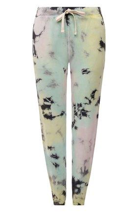 Женские хлопковые джоггеры ELECTRIC&ROSE разноцветного цвета, арт. LFBT08-ATLANTIS | Фото 1 (Материал внешний: Хлопок; Женское Кросс-КТ: Джоггеры - брюки, Брюки-спорт; Стили: Спорт-шик; Длина (брюки, джинсы): Укороченные; Силуэт Ж (брюки и джинсы): Джоггеры)