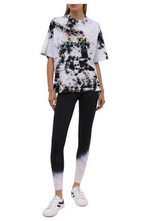 Женские хлопковые леггинсы ELECTRIC&ROSE разноцветного цвета, арт. AWLG11-ECH0 | Фото 2 (Материал внешний: Хлопок; Женское Кросс-КТ: Леггинсы-одежда, Леггинсы-спорт; Стили: Спорт-шик; Длина (брюки, джинсы): Стандартные)