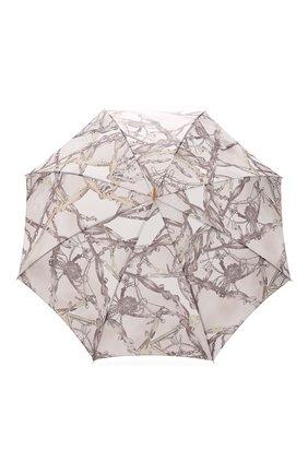 Женский зонт-трость PASOTTI OMBRELLI светло-бежевого цвета, арт. 20/RAS0 58152/2/PELLE | Фото 1
