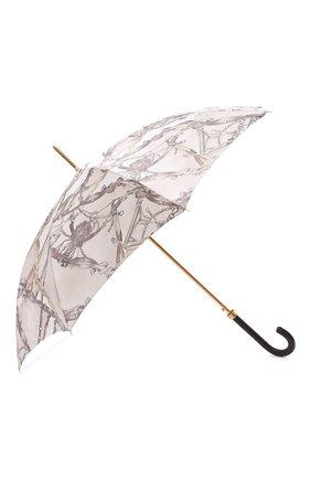 Женский зонт-трость PASOTTI OMBRELLI светло-бежевого цвета, арт. 20/RAS0 58152/2/PELLE | Фото 2