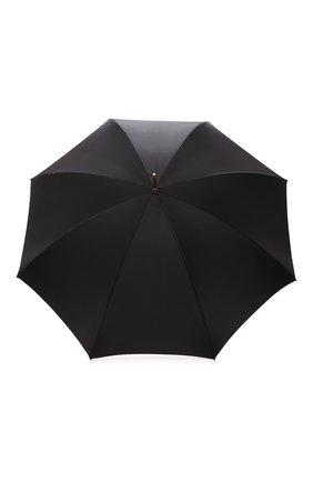 Женский зонт-трость PASOTTI OMBRELLI черного цвета, арт. 189/RAS0 9G582/1/A | Фото 1 (Материал: Текстиль, Металл, Синтетический материал)