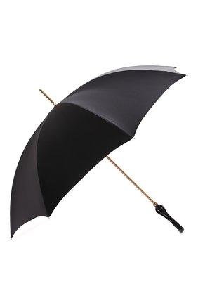 Женский зонт-трость PASOTTI OMBRELLI черного цвета, арт. 189/RAS0 9G582/1/A | Фото 2 (Материал: Текстиль, Металл, Синтетический материал)
