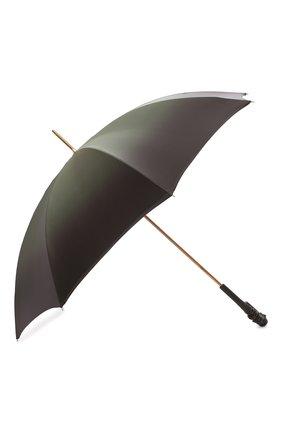 Женский зонт-трость PASOTTI OMBRELLI хаки цвета, арт. 189/RAS0 90115/5/A35 | Фото 2