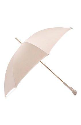 Женский зонт-трость PASOTTI OMBRELLI кремвого цвета, арт. 189/RAS0 57982/11/A35 | Фото 2 (Материал: Текстиль, Металл, Синтетический материал)