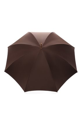 Женский зонт-трость PASOTTI OMBRELLI коричневого цвета, арт. 189/RAS0 55874/13/A | Фото 1 (Материал: Металл, Текстиль, Синтетический материал)