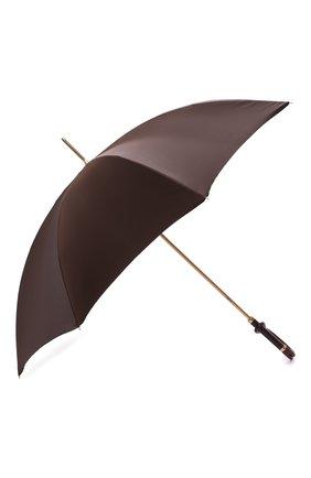 Женский зонт-трость PASOTTI OMBRELLI коричневого цвета, арт. 189/RAS0 55874/13/A | Фото 2 (Материал: Металл, Текстиль, Синтетический материал)