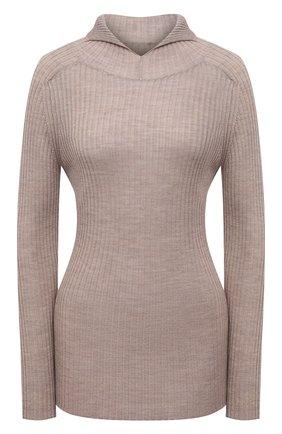 Женский шерстяной пуловер ERIKA CAVALLINI темно-бежевого цвета, арт. W1/P/P1WA07 | Фото 1