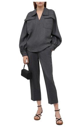 Женская рубашка ERIKA CAVALLINI серого цвета, арт. W1/P/P1WF01 | Фото 2