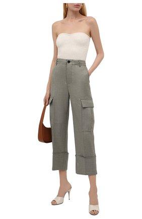 Женские брюки ERIKA CAVALLINI хаки цвета, арт. W1/P/P1WF04 | Фото 2