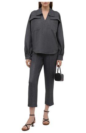 Женские брюки ERIKA CAVALLINI серого цвета, арт. W1/P/P1WF06 | Фото 2