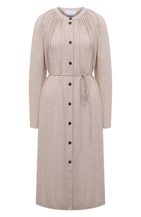 Женское платье из вискозы и шерсти ERIKA CAVALLINI кремвого цвета, арт. W1/P/P1WS01 | Фото 1