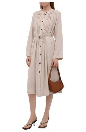 Женское платье из вискозы и шерсти ERIKA CAVALLINI кремвого цвета, арт. W1/P/P1WS01 | Фото 2