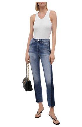 Женские джинсы 3X1 синего цвета, арт. WP0171079/MASH UP   Фото 2