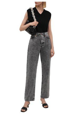 Женские джинсы 3X1 серого цвета, арт. WP0371100/MACHINE   Фото 2