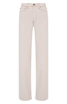 Женские джинсы 3X1 бежевого цвета, арт. WX1081104/CHALK DUST   Фото 1