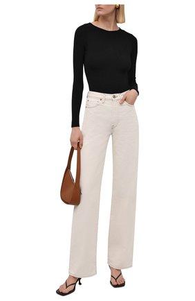 Женские джинсы 3X1 бежевого цвета, арт. WX1081104/CHALK DUST   Фото 2