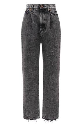 Женские джинсы 3X1 серого цвета, арт. WX1091100/MACHINE | Фото 1 (Кросс-КТ: Деним; Длина (брюки, джинсы): Стандартные; Силуэт Ж (брюки и джинсы): Прямые; Материал внешний: Хлопок; Детали: Потертости; Стили: Кэжуэл)