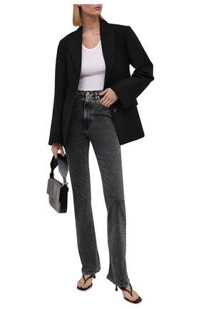Женские джинсы 3X1 серого цвета, арт. WX1121092/MACHINE   Фото 2