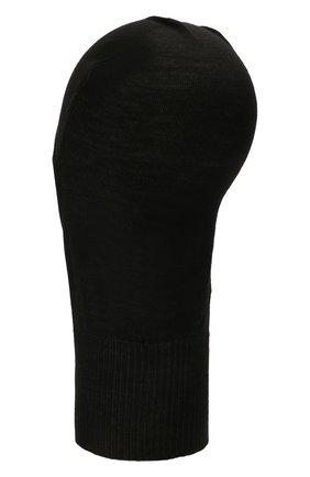 Женская шерстяная шапка-балаклава RICK OWENS черного цвета, арт. RP02A7478/M   Фото 2