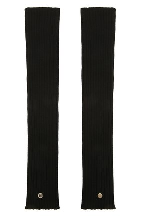 Женские шерстяные митенки RICK OWENS черного цвета, арт. RP02A7488/M | Фото 2