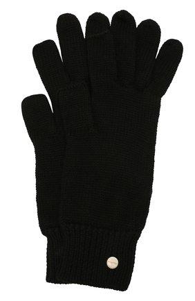 Женские шерстяные перчатки RICK OWENS черного цвета, арт. RP02A7492/M | Фото 1