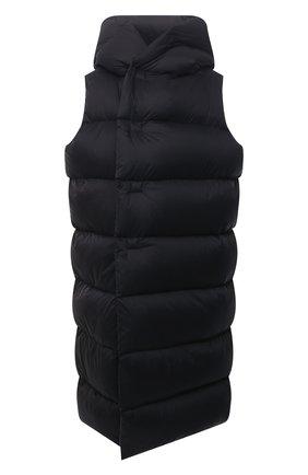 Женский пуховый жилет RICK OWENS черного цвета, арт. RP02A7914/NZD3   Фото 1